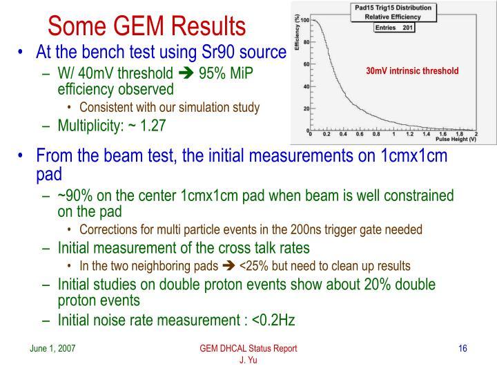 Some GEM Results