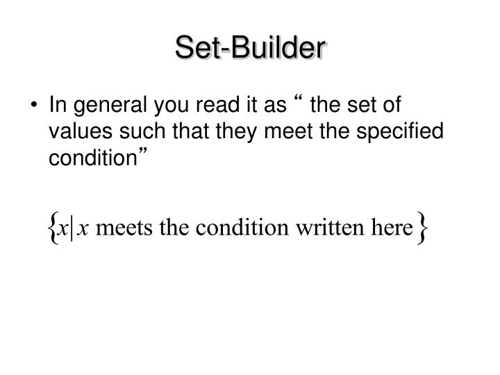 Set-Builder