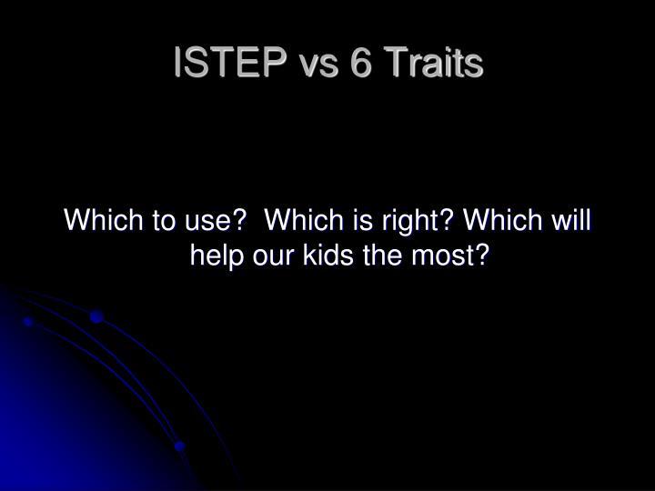 ISTEP vs 6 Traits