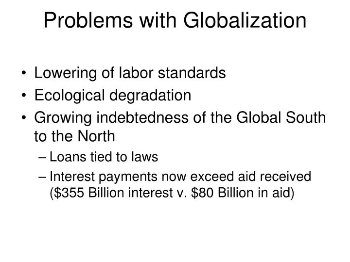 Problems with Globalization