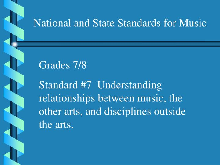 National and State Standards for Music