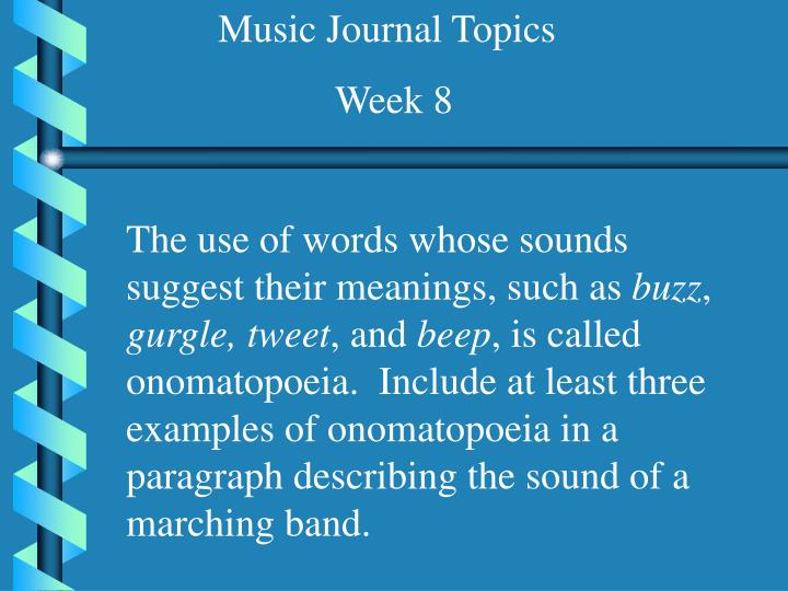 Music Journal Topics