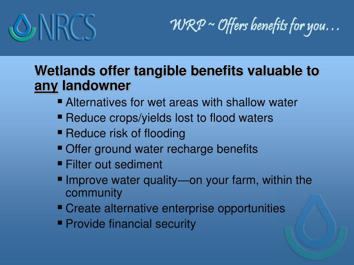 WRP ~ Offers benefits for you…