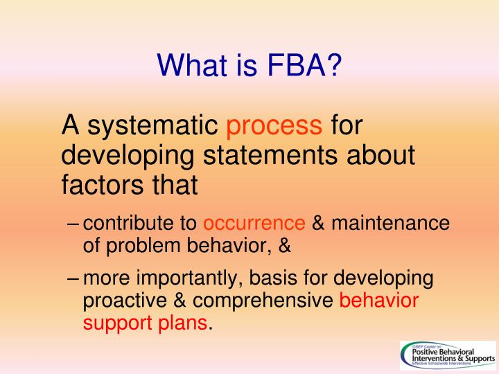 What is FBA?