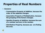 properties of real numbers2