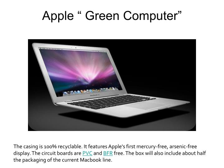 "Apple "" Green Computer"""