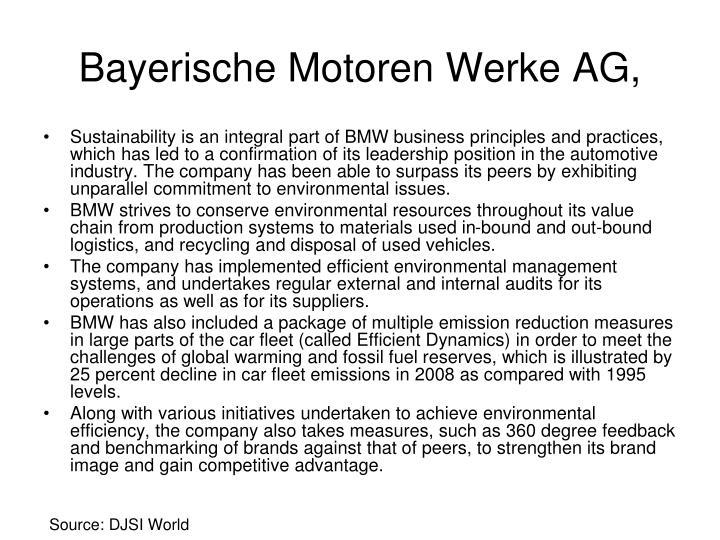 Bayerische Motoren Werke AG,