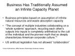 business has traditionally assumed an infinite capacity planet