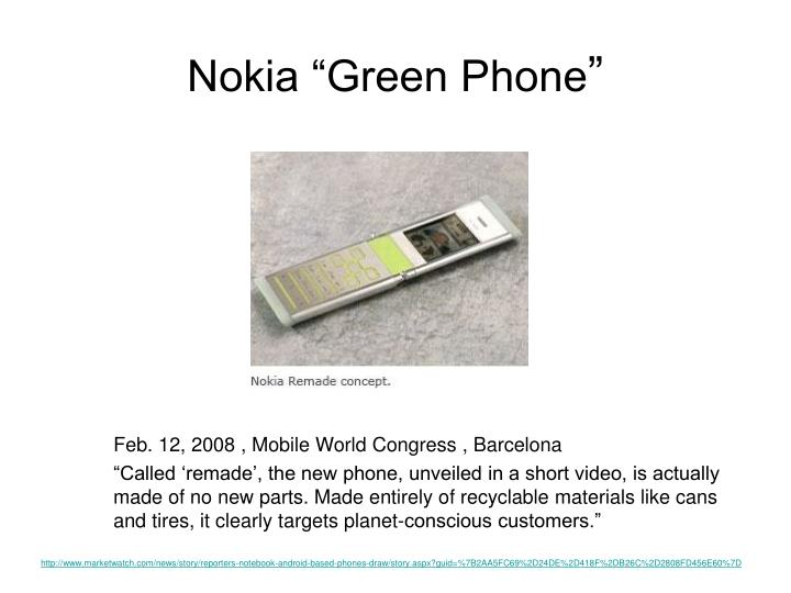 "Nokia ""Green Phone"