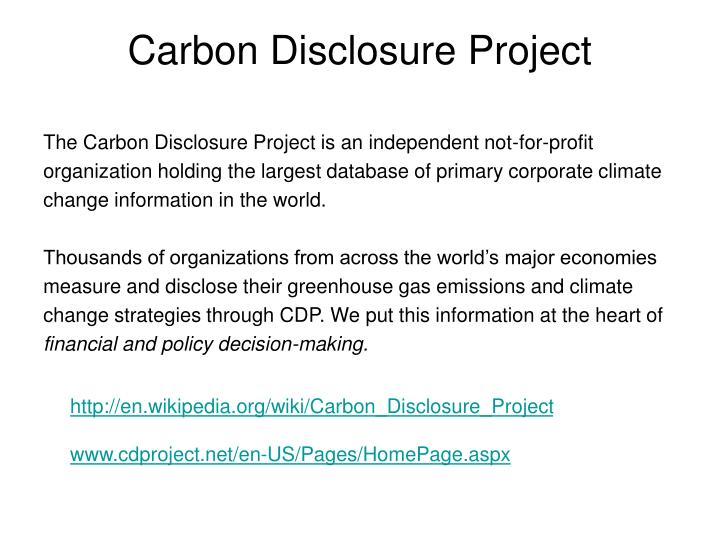Carbon Disclosure Project