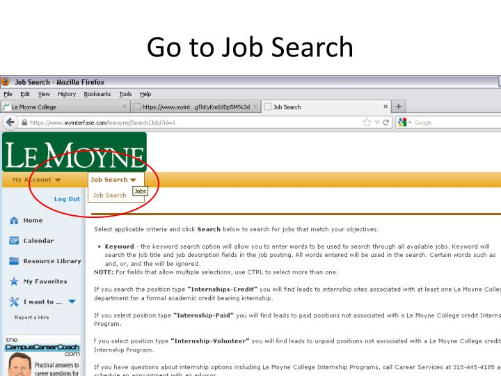 Go to Job Search