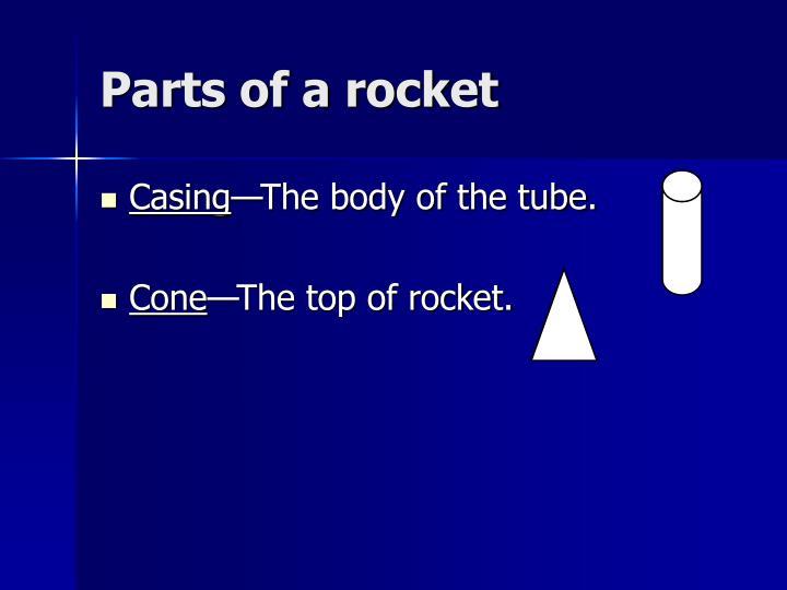 Parts of a rocket