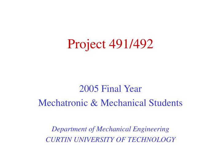 Project 491 492