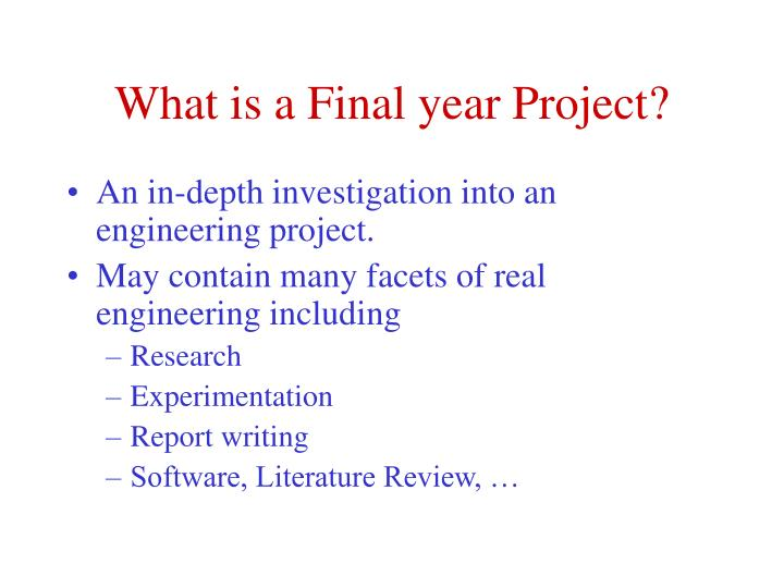 What is a Final year Project?