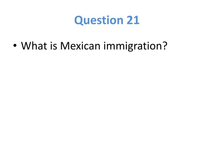 Question 21