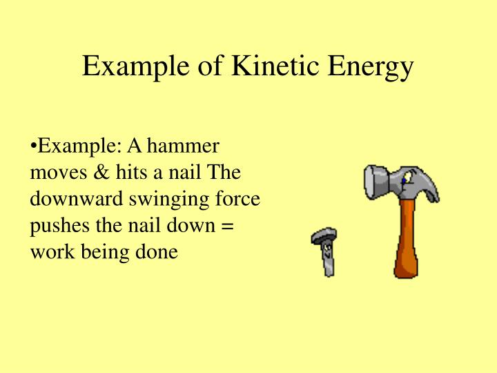 Example of Kinetic Energy