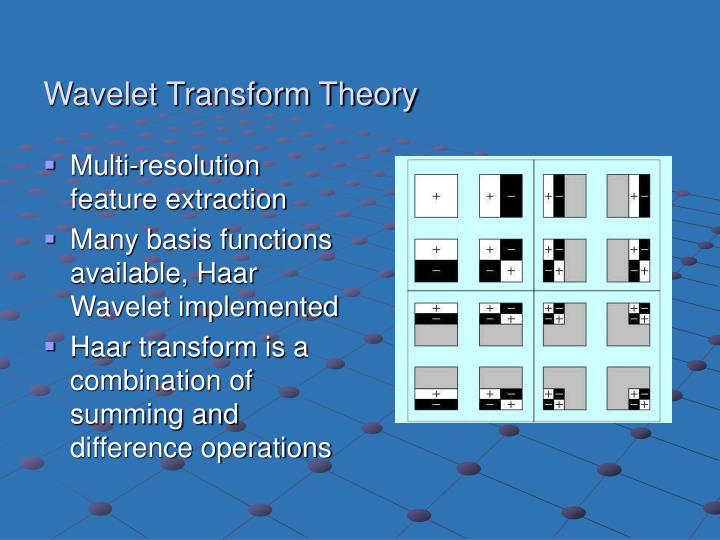 Wavelet Transform Theory