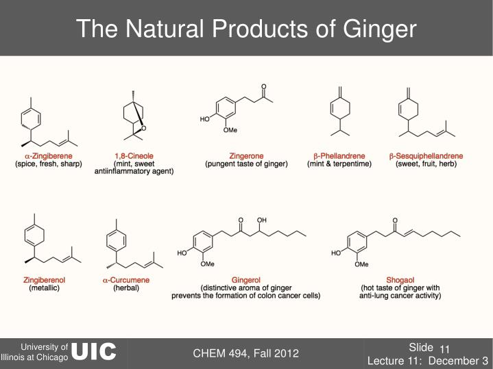 The Natural Products of Ginger