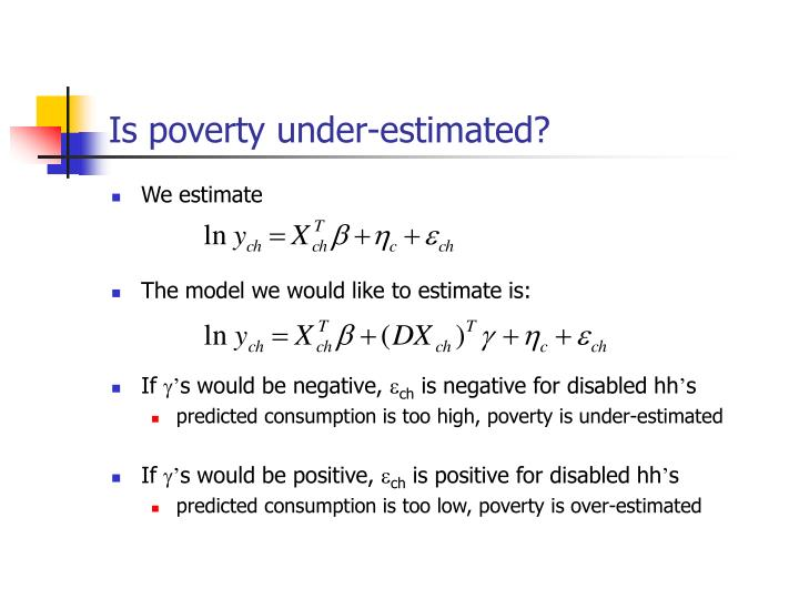 Is poverty under-estimated?