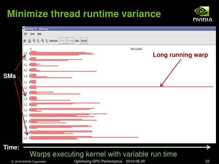 Minimize thread runtime variance