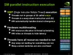 sm parallel instruction execution