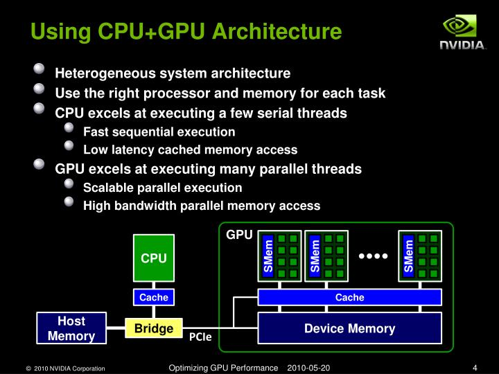 Using CPU+GPU Architecture