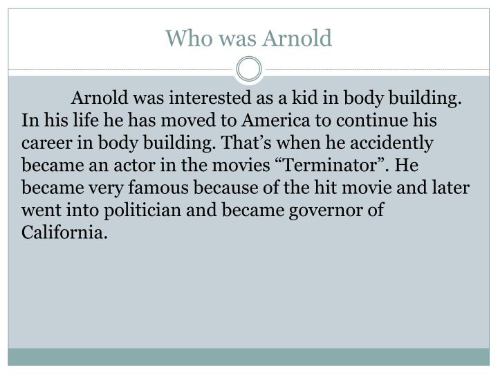 Who was Arnold