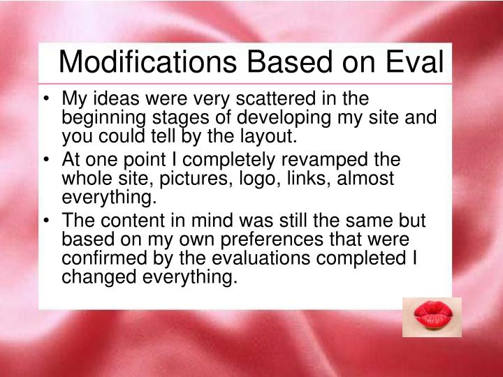 Modifications Based on Eval