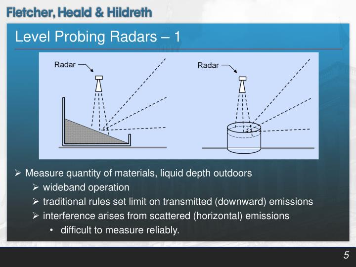 Level Probing Radars – 1