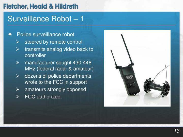 Surveillance Robot – 1