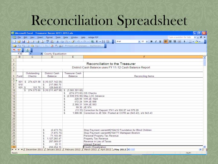 Reconciliation Spreadsheet