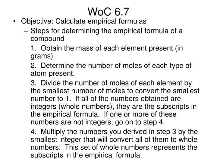 WoC 6.7