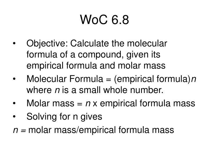 WoC 6.8