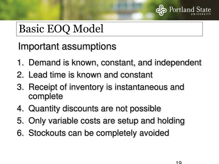Basic EOQ Model