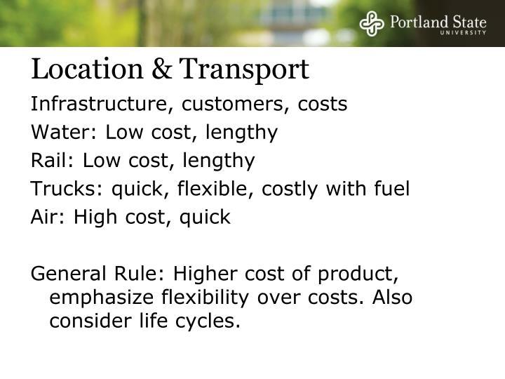Location & Transport