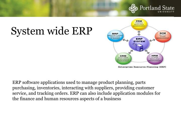 System wide ERP