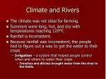 climate and rivers