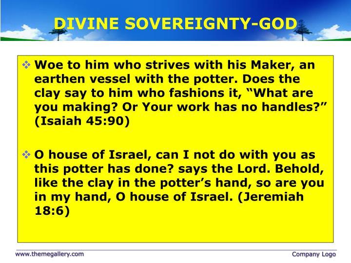 DIVINE SOVEREIGNTY-GOD