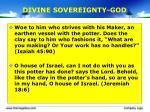 divine sovereignty god