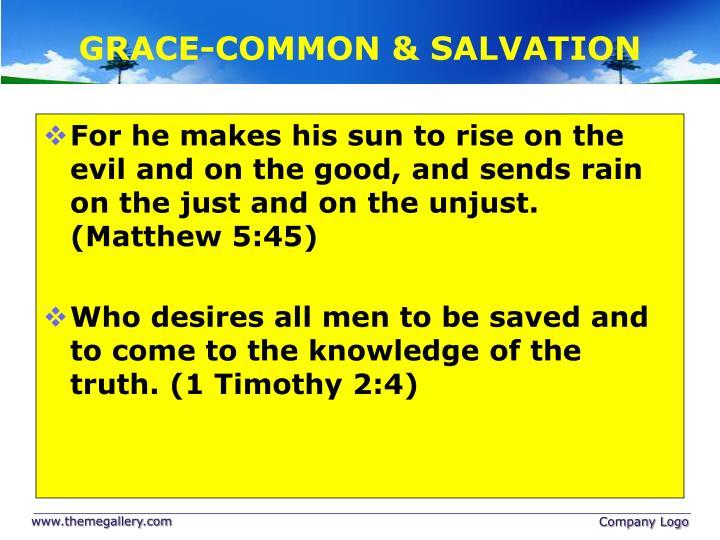 GRACE-COMMON & SALVATION