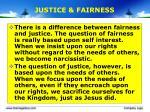 justice fairness