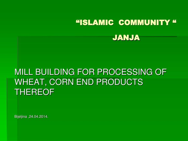 Islamic community janja