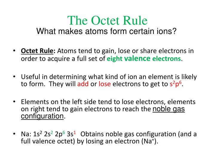 The Octet Rule