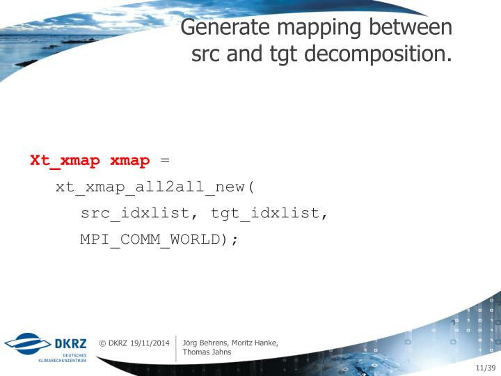 Generate mapping between src and tgt decomposition.