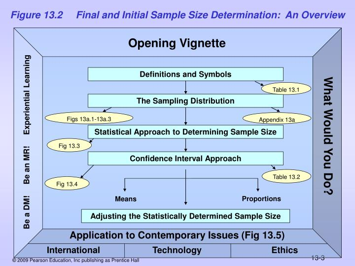 Figure 13.2     Final and Initial Sample Size Determination:  An Overview