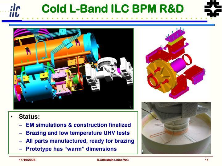 Cold L-Band ILC BPM R&D