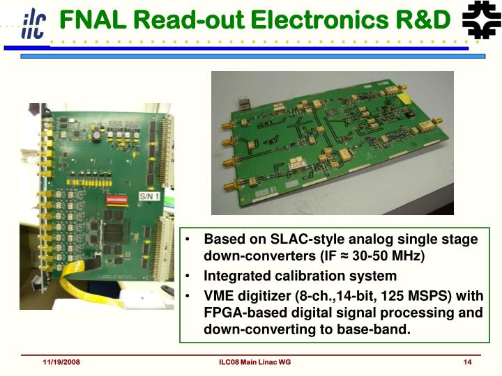 FNAL Read-out Electronics R&D