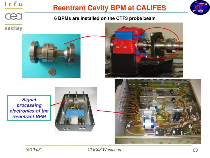 Reentrant Cavity BPM at CALIFES