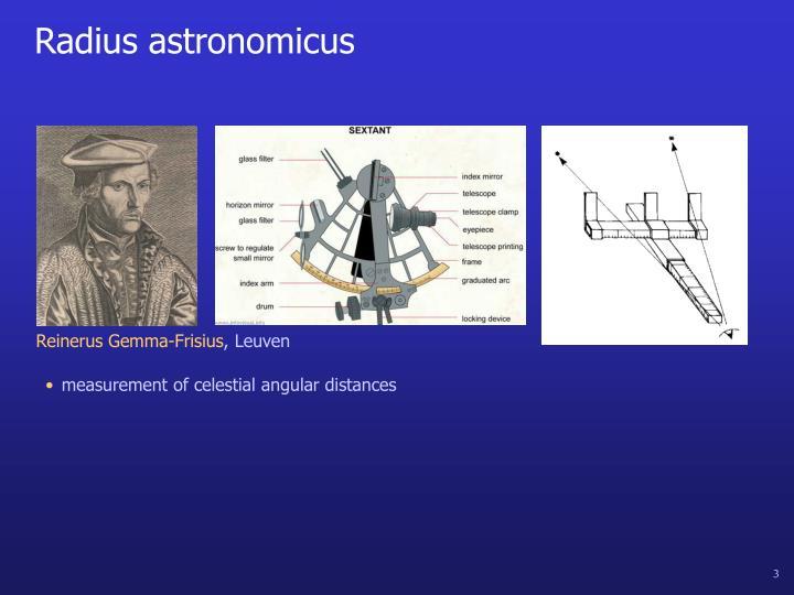 Radius astronomicus