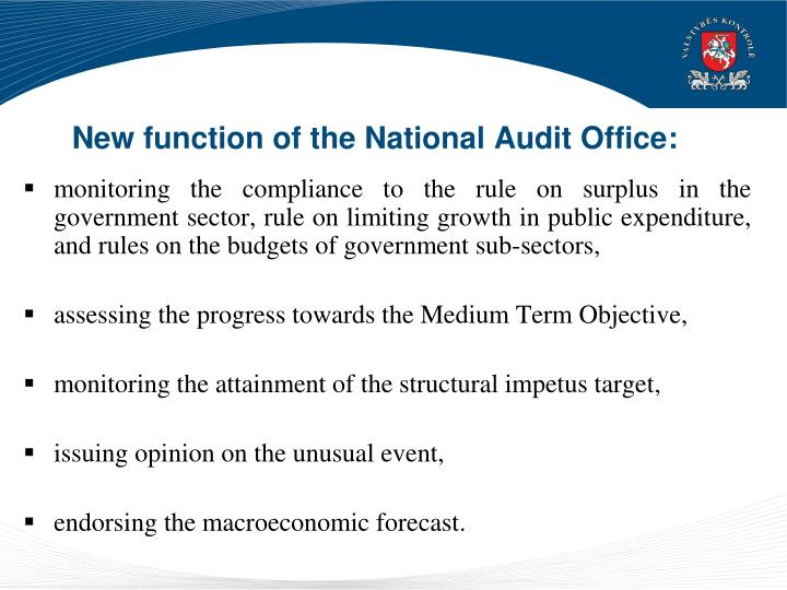 New function of the National Audit Office